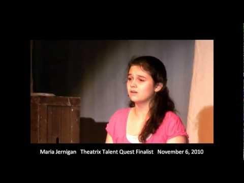 Maria Jernigan performing Hallelujah at Theatrix Talent Quest 2010