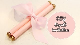 How to Make a scroll | DIY scroll invitations
