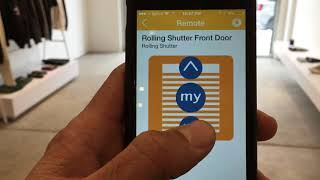 Somfy Mylink Controlled rolling shutter