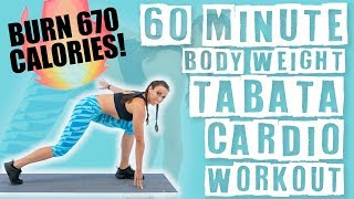 60 Minute Bodyweight Tabata Cardio Workout  by Sydney Cummings