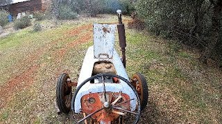 Starting a vintage Ford 2N 9N tractor thats been parked year+