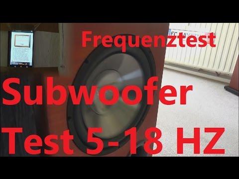 Subwoofer Frequenztest 5 -18 hz wann rappelt es in der Wohnung