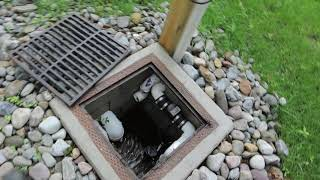 Outdoor Sump Pump with drainage system