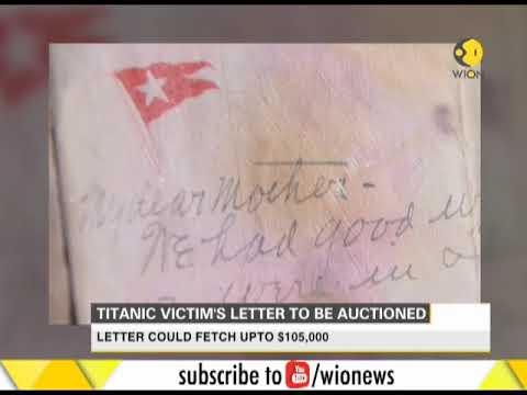 Titanic victim's letter to be auctioned