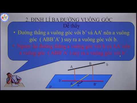 Toán 11 - Đường thẳng vuông góc mặt phẳng (P2)