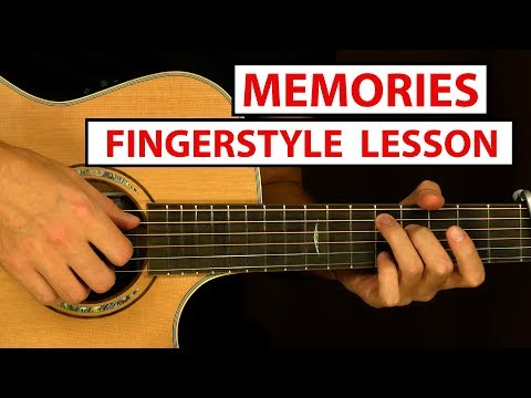 Memories - Maroon 5 - Fingerstyle Guitar Lesson (Tutorial) How to Play Fingerstyle
