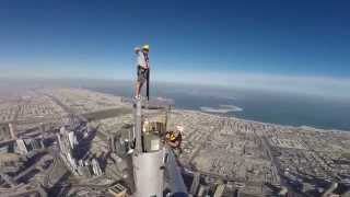 Burj Khalifa - Platform inspection top of the spire Andy Veall