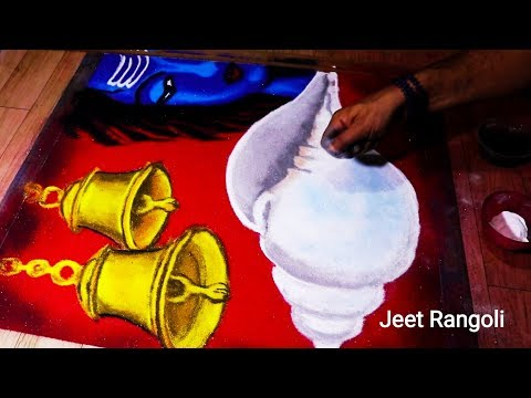 competition rangoli design shankh by jeet rangoli