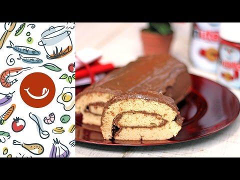 Cómo hacer un tronco de Navidad con Nutella
