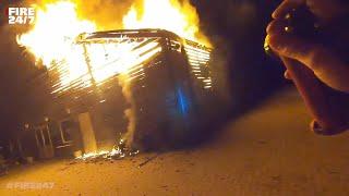 DUTCH FIREFIGHTERS - GROTE BRAND IN EEN PAARDENSPORTCENTRUM