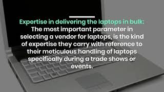 Why to Choose the Right Vendor for Laptop Rentals in Dubai?