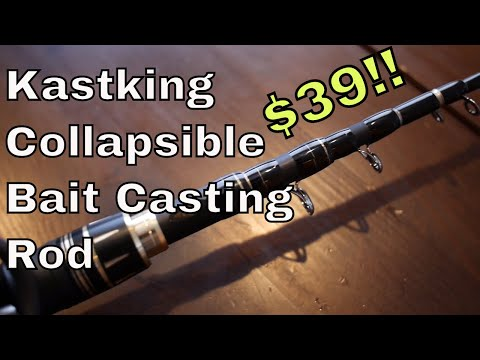 Kastking Blackhawk II – collapsible, portable bait casting rod