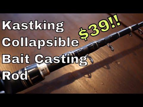 Kastking Blackhawk II – collapsible, portable bait casting rod