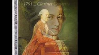 1791 Wolfgang Amadeus MOZART Clarinet Concerto in A, 2nd movement