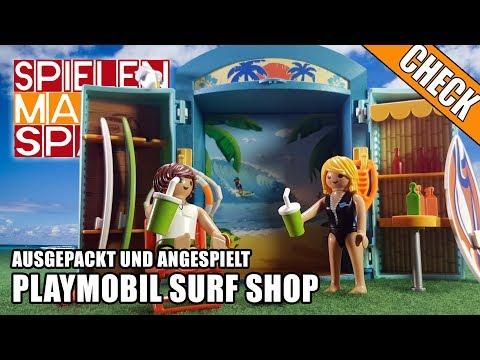 Playmobil SURF SHOP 🏄 Ausgepackt und Angespielt 👦 Surfer 5641 Unboxing Deutsch Spielebox 2017