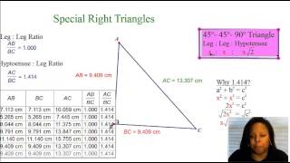 Geometry: Unit 7: Part 1: Day 3: Special Right Triangles