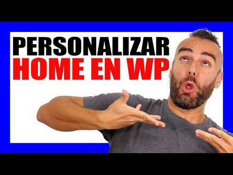 CÓMO PERSONALIZAR UNA HOMEPAGE (PÁGINA PRINCIPAL) EN WORDPRESS!! - #RomuTV Ep. 40