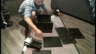 Review And ASSEMBLY Of Winsome Ava Accent Table With 2-Drawer In Black Finish