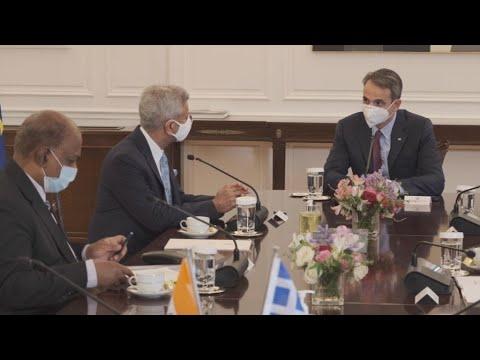 Συνάντηση του Πρωθυπουργού με τον Υπουργό Εξωτερικών της Ινδίας, Dr. Subrahmanyam Jaishankar