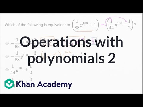 Operations with polynomials — Harder example (video