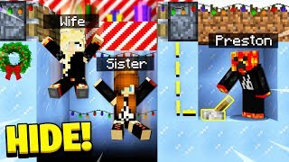 TROLLING MY WIFE & SISTER in HIDE & SEEK! - Minecraft Mods