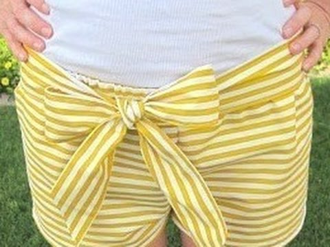 Shorts selber nähen. Shorts selber machen.