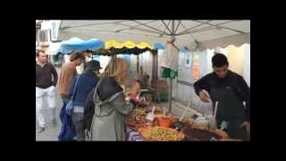 preview picture of video 'French markets. Montcuq in the southwest of France... on The Way.'