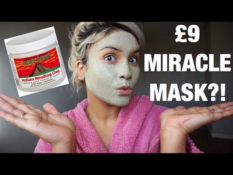 Algae facial mask effect