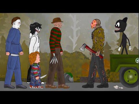 Cartoon Cat Vs Jason Voorhees, Freddy Krueger, Jeff Killer, Michael Myers, Chucky [Dc2]