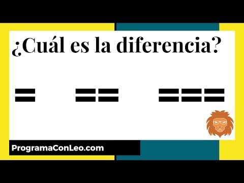 =, ==, === ¿cuál es la diferencia en JavaScript?