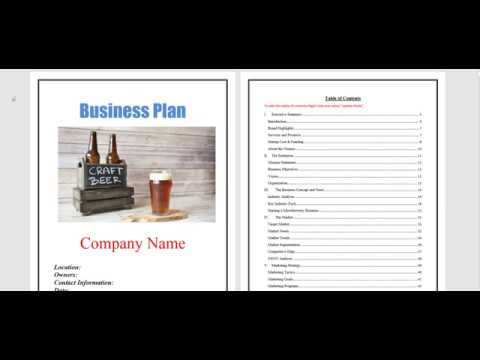 , title : 'microbrewery business plan template