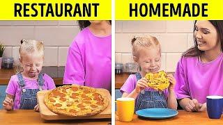 Restaurant Food VS Homemade Food    Tasty Kitchen Hacks And Recipes For Smart Parents!