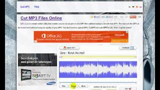 Program Kullanmadan, Online MP3 Kesmek
