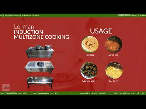 Two Zone Commercial Cooking Induction