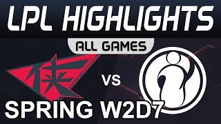 RW vs IG Highlights ALL GAMES LPL Spring 2020 W2D7 Rogue Warriors vs Invictus Gaming LPL Highlights