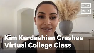 Kim Kardashian-West Crashes Virtual College Class | NowThis