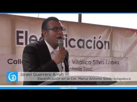 Inicio de electrificación de dos calles en la colonia Marco Antonio Sosa