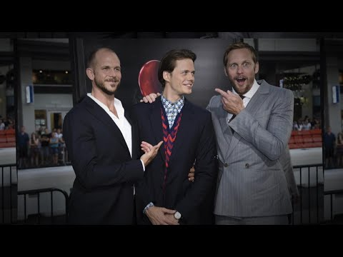 Alexander Skarsgard Scares His Brother Bill at 'It' L.A. Premiere | MTW