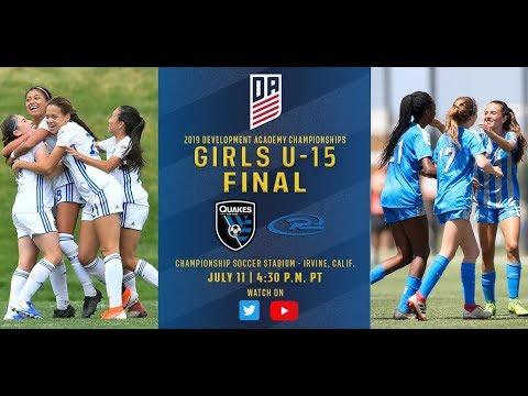 2019 Development Academy Finals: U15 Girls Final - Colorado Rush vs. San Jose Earthquakes