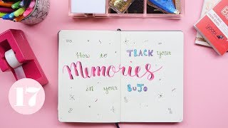 How To Track Memories in Your Bullet Journal | Plan With Me