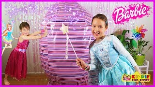Barbie Giant Surprise Egg with Barbie Dolls