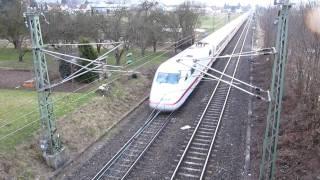 preview picture of video 'ICE 1 zwischen Weiler (Rems) und Schorndorf    (02. März 2010)'