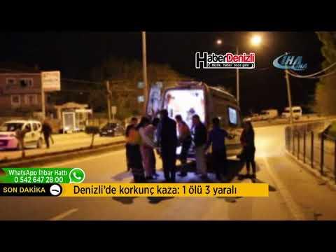 Denizli'de trafik kazası: 1 ölü, 3 yaralı - Denizli Haberleri - HABERDENİZLİ.COM