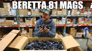 Beretta Model 81 Magazine 12 Round, Original Equipment Manufacture, .32 ACP Caliber, Used, Surplus Good Condition - All Steel, Black
