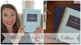 Simplified Planner 2016 Weekly Edition | Peek Inside!