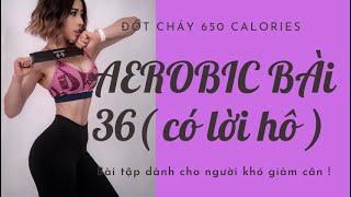 AEROBIC#36: Đốt mỡ thần tốc dành cho người khó giảm cân ???????????? 650 calories