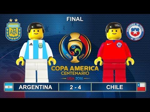 Copa America Final 2016 ( Argentina - Chile 2-4 ) Film in Lego Football Highlights ( Centenario )
