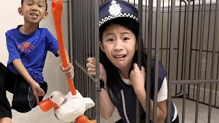 Pretend Play Police on Missing Duck Mystery