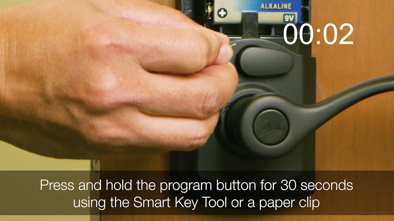 Factory Resetting the Kwikset Smartcode 955