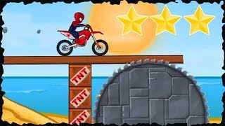 Spiderman In Moto X3M Bike Race Game Mobile Gameplay 60-75 Levels Walkthrough